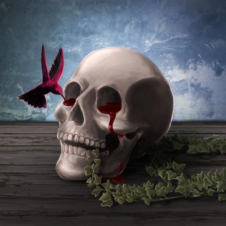 TEKTULA DEAD INSIDE SKULL HUMMINGBIRD HUMMING BIRD BLOOD WALLPAPER